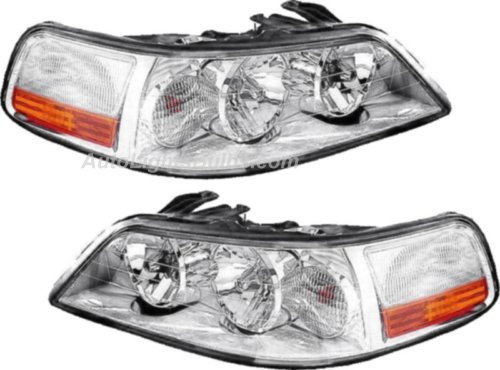 2003 2004 Lincoln Town Car Headlight Embly Pair Both Driver And Penger Sides