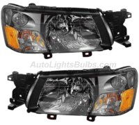 2003 2004 Subaru Forester Headlight Embly Pair Both Driver And Penger Sides