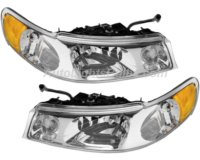 1998 2002 lincoln town car headlight assembly 1999 2000 2001 1 pair halogen. Black Bedroom Furniture Sets. Home Design Ideas
