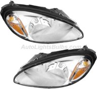 2001 2005 Chrysler Pt Cruiser Headlight Embly Pair Both Driver And Penger Sides