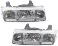 2002 2004 Saturn Vue Headlight Embly Pair Both Driver And Penger Sides