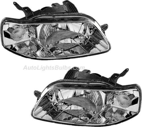 2004 2006 Chevy Aveo Sedan Headlight Embly Pair Both Driver And Penger Sides