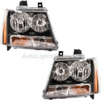 2007 2017 Chevy Tahoe Headlight Embly Pair Both Driver And Penger Sides